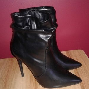 Like New black ankle booties